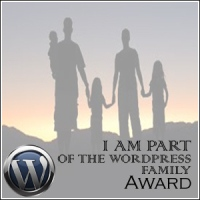 "An award for Marcus Ampe, who is part of the ""Word Press Family"""