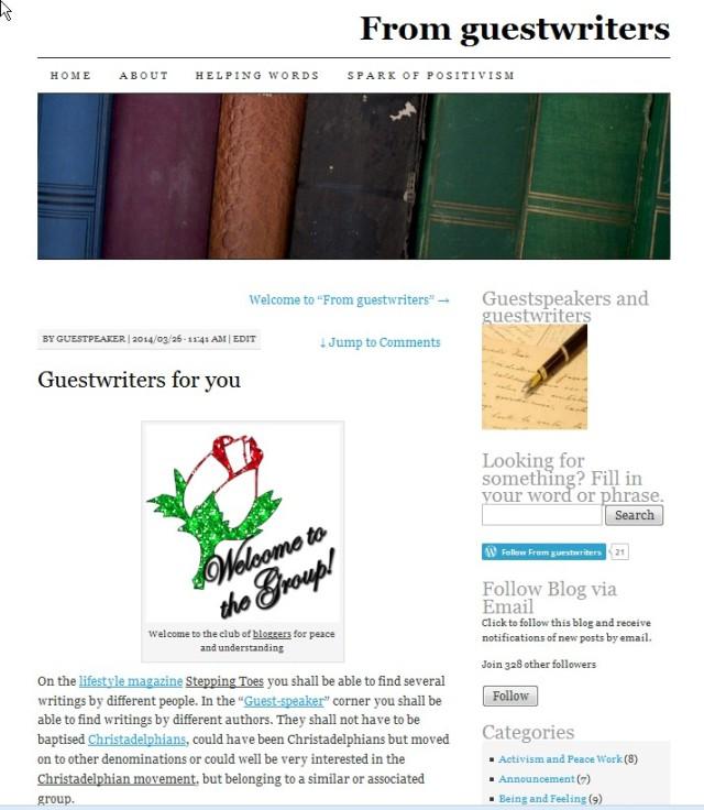 Guestspeaker 1° article 20140326