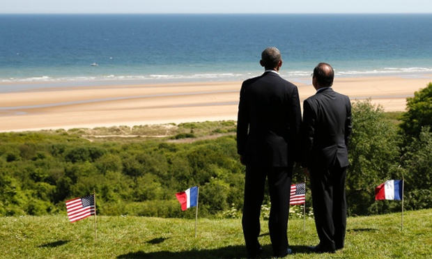 Omaha Beach - Obama - Hollande