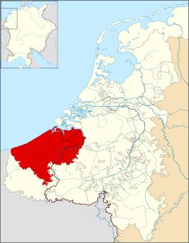Graafschap Vlaanderen omstreeks 1350