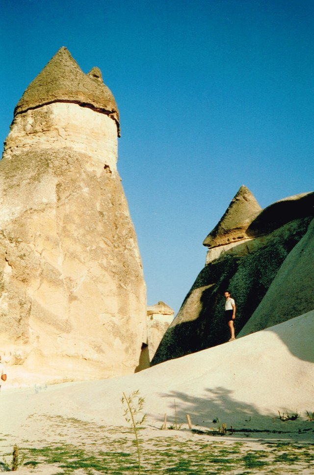 Marcus Ampe in his younger years in the overwhelming landscape nearby Göreme, Cappadocia - 1992