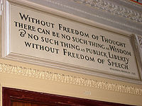 Without freedom of thought there can be no such thing as wisdom & no such thing as publick liberty without freedom of speech, Benjamin Franklin, 1722.