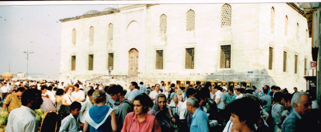 One of the many palaces in Istanbul visited by a huge crowd  in 1992