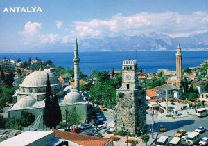 Antalya with clock tower -2002