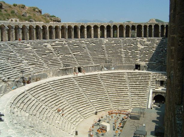 Aspendos Roman theatre - Photo Adrian Schneider, 2003