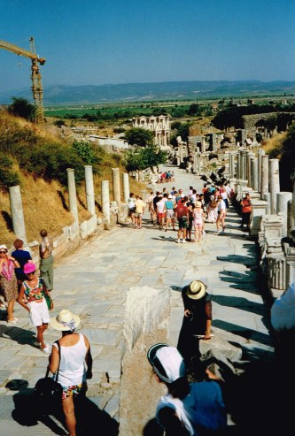 At our Turkey round trip in 1992 with tourists in Ephesus