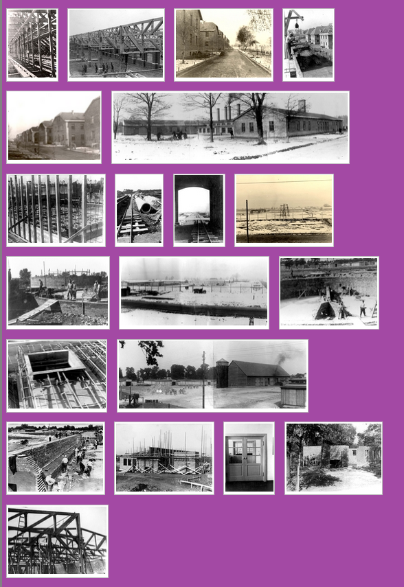 Construction of Auschwitz Birkenau camps I and II