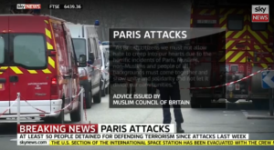 Television stations all over the world broke the news of the attack on Charlie Hebdo 7 January 2015