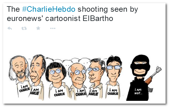 Charlie Cartoonists by Independent