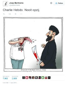 Charlie Hebdo Nooit opzij. - Charlie Hebdo. Never aside.
