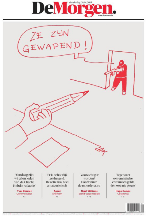 Be careful - They are armed - Flemish newspaper De Morgen