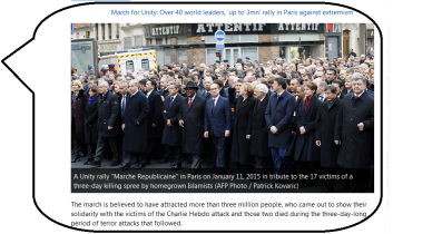 """""""Je suis Charlie"""" march in Paris 2015 January 2015"""