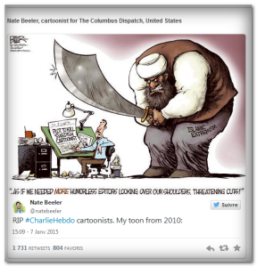 Charlie Hebdo attack 2014 January - Nate Beeler