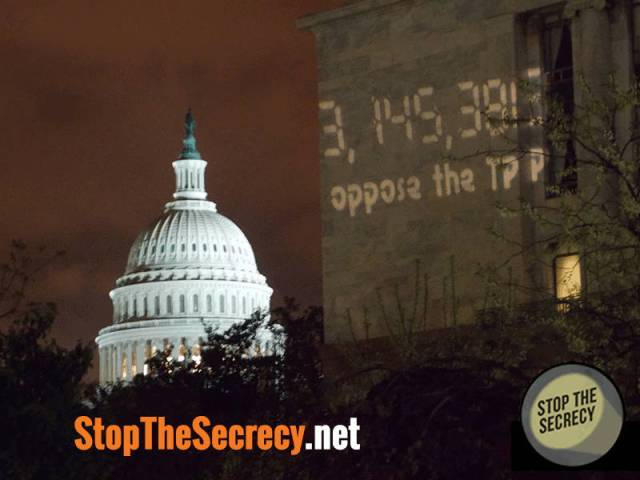 Trans-Pacific Partnership (TPP) = censorship on Internet + and removal of democratic rights