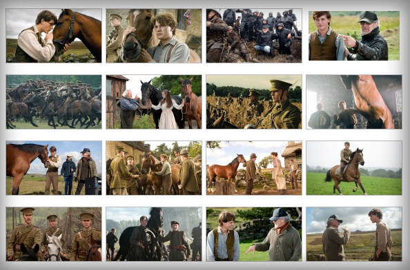 Some pictures from the epic drama War Horse, written by Lee Hall and Richard Curtis  and directed by  Steven Spielberg with in the cast Jeremy Irvine, Tom Hiddleston,  Benedict Cumberbatch, Nicolas Bro, David Kross, Leonard Carow, Celine Buckens, Rainer Bock, Patrick Kennedy, Robert Emms