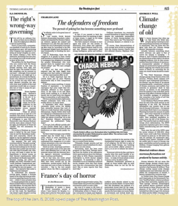 Washington Post on Charlie Hebdo attack