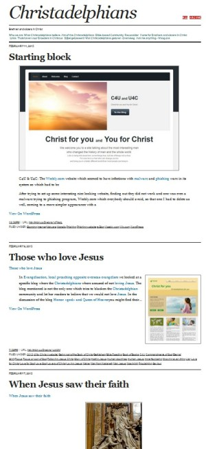 Christadelphians on Tumbler, 11 February 2015
