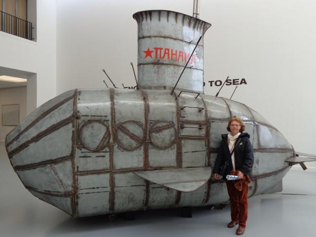 Pahama Nova Zemblaya steel submarine - Stalen onderzeeboot Pahama Nova Zemblaya van Panamarenko