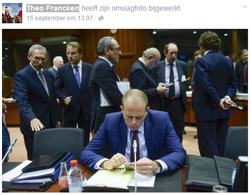 Frustrated Theo Francken who is bombarded with negative comments from all fronts