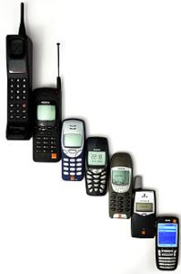 Evolution of mobile phones, through early smartphone - Evolutie van mobiele telefoons, tot aan de vroegtijdige smartphone