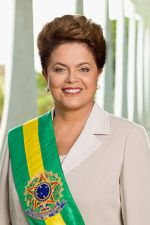 Dilma Vana Rousseff, Brazilian economist and politician, as 36th President of Brazil first woman to hold the office