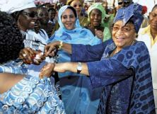 Liberian economist and political leader Ellen Johnson Sirleaf