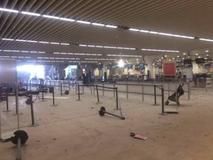 Brussels Airport Emptiness after the blast of 2016 03 22