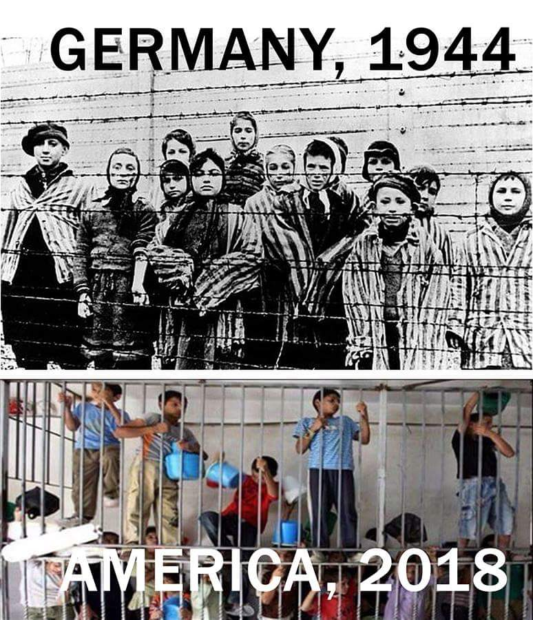 Migrant children in cages